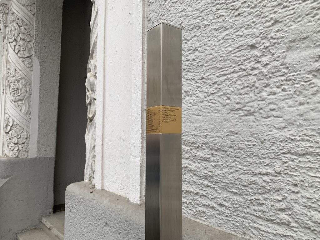 Gedenkstelen statt Stolpersteine. Der Münchner Weg.